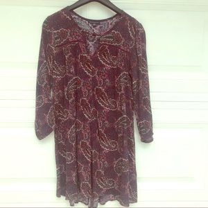 American Eagle Dark Purple Paisley Printed Dress